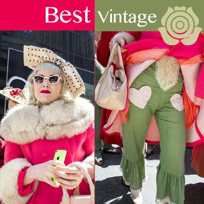 best dressed vintage woman at the NY Easter Hat Parade 2014
