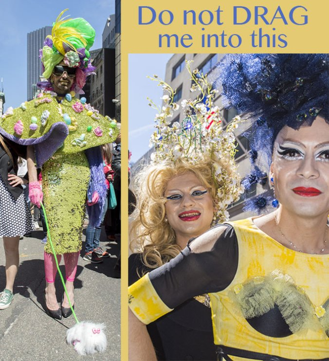 Drag Queens at the NY Easter Hat Parade 2014