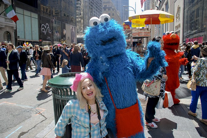 Cookie monster at the NY Easter Hat parade 2014