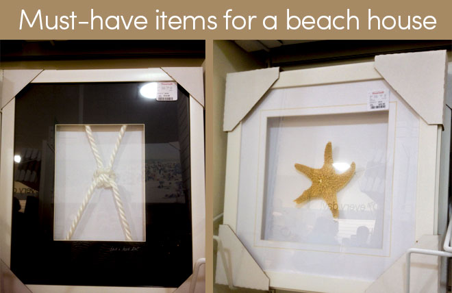 Nautical items at HomeGoods for a beach house