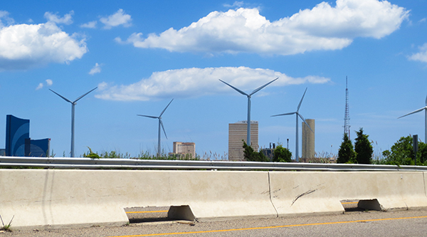 Wind turbines in Atlantic City Wind Mill