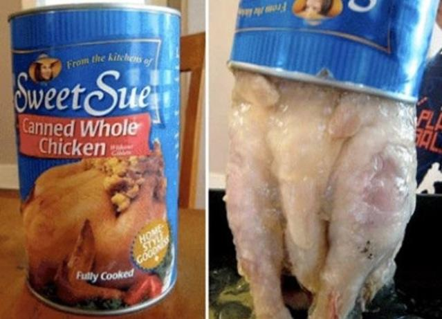 Sweet Sue chicken in jello out of a can
