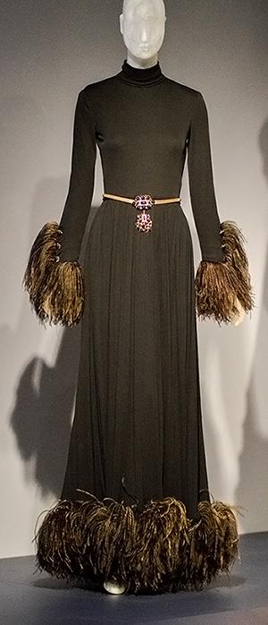 Christian Dior by Marc Bohan evening dress for Lauren Bacall