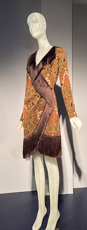 Yves Saint Laurent dress owned by Lauren Bacall - FIT exhibit March 2015