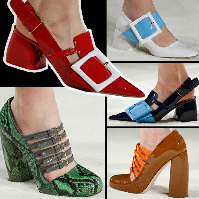 Miu Miu shoes from Paris Fashion week 2015 for RTW March