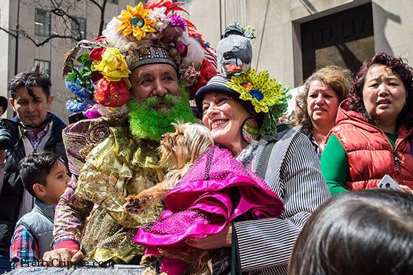 NYC easter hat parade birdman
