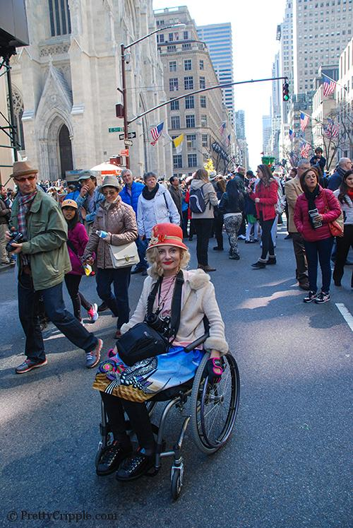 wheelchair streetstyle at the easter hat parade nyc