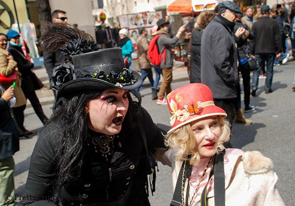 Goth girl at nyc hat parade