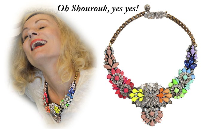 Shourouk neon necklace