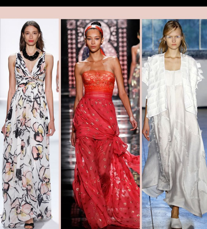 Maxi dresses trend for Spring 2016 from the NY Fashion Week shows.