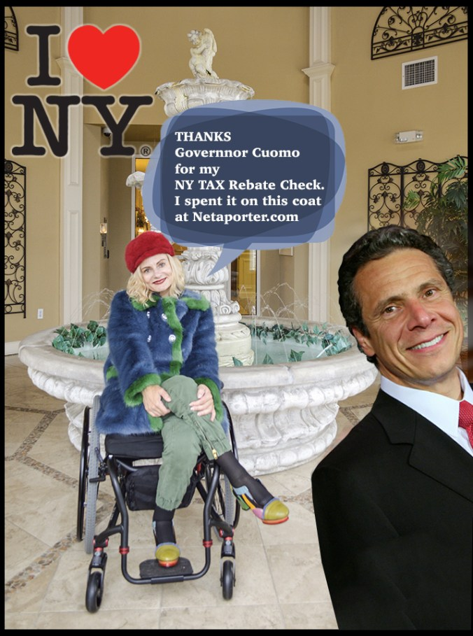 I love NY - what will you spend your tax rebate check on NY?