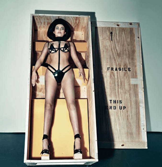 Kylie Jenner as blow up doll in Interview Magazine