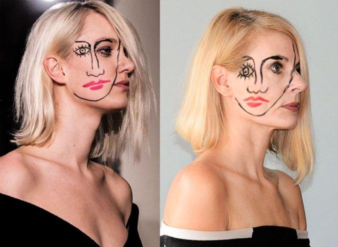 Jacquemus Paris runway model 2015. Great makeup inspiration.