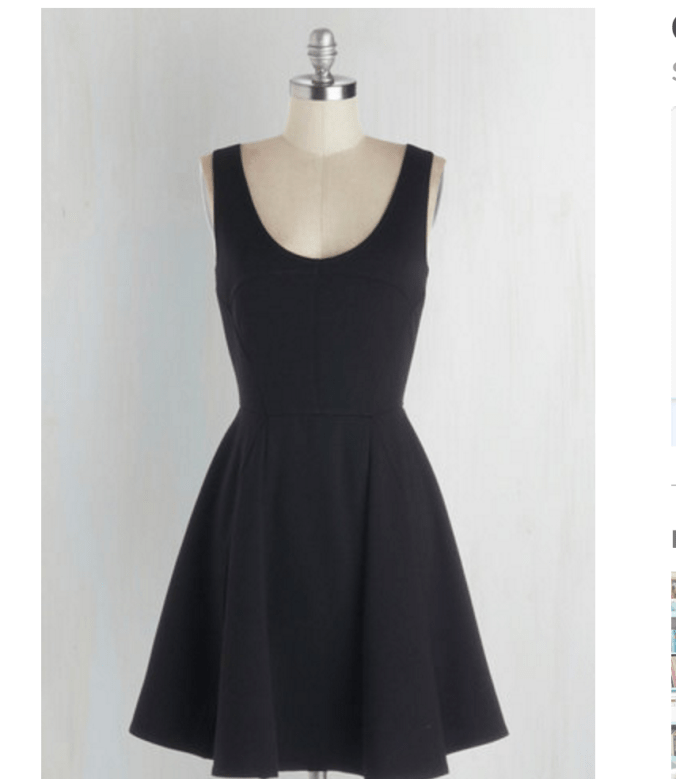 mod cloth.com black sleeveless dress