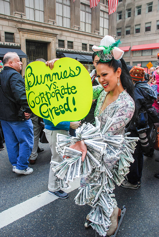 EASTER HAT PARADE 2016 NYC- Corporate Greed