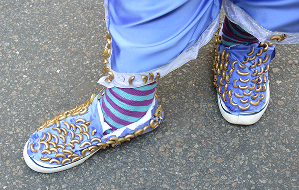 Macaroni Man's shoes from the Easter Day Hat Parade 2016