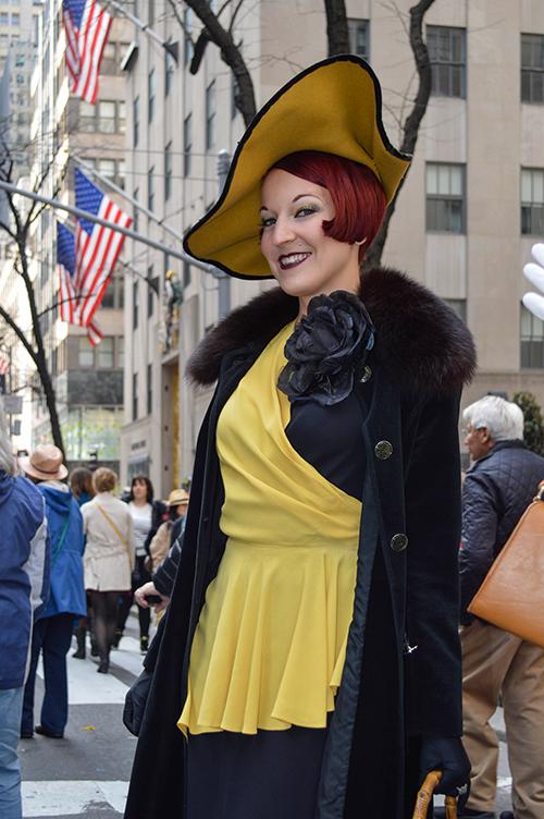 Gin Minsky - burlesque dancer easter hat parade