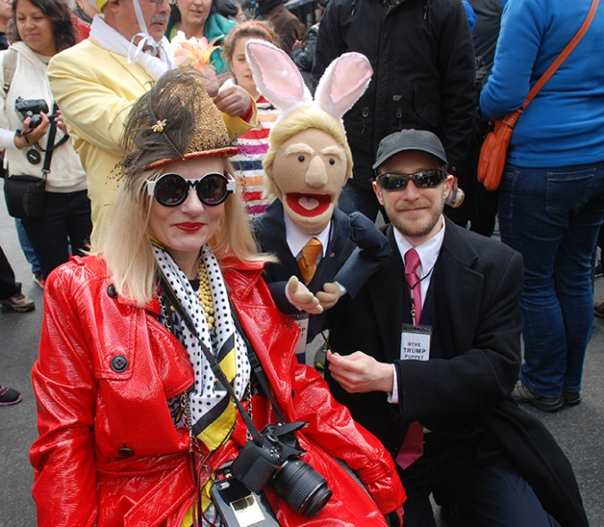 Trump puppet at Easter Hat Parade NYC