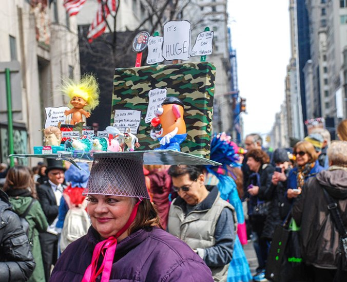 Anti-donald trump NYC easter hat parade 2016