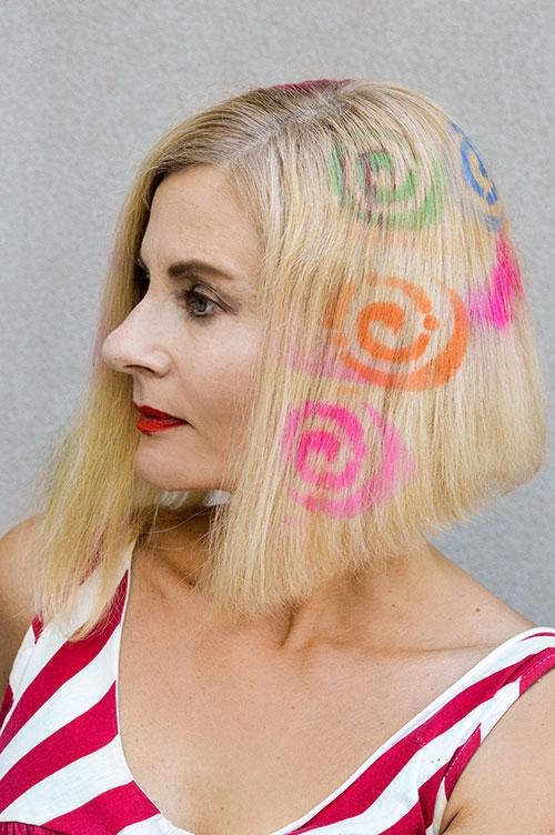 spray hair stencils for hair