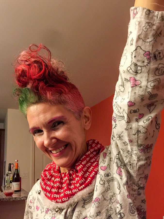womens punk rock hairdo