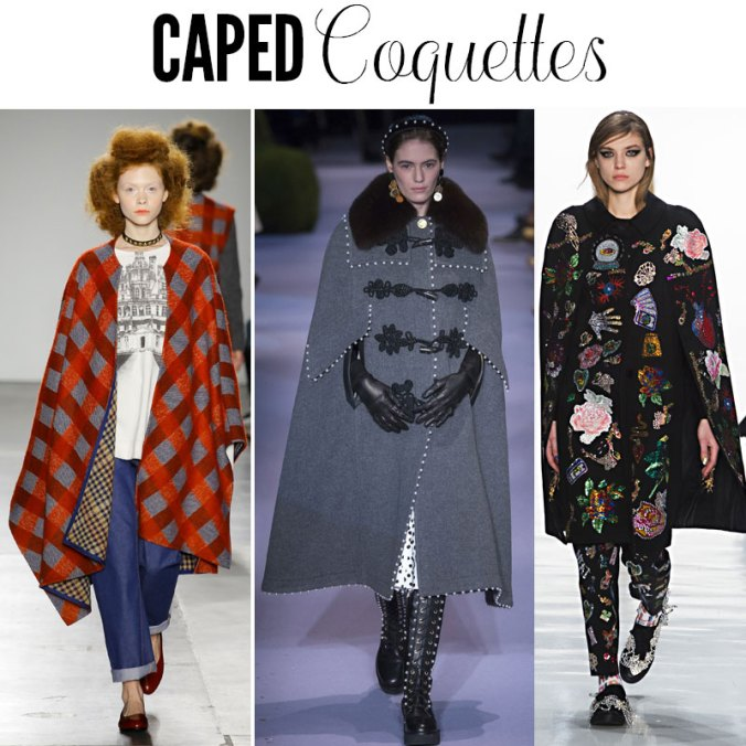 Women in capes - fashion trend fall 2017
