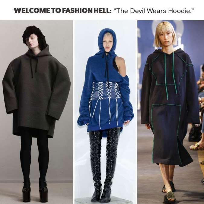 Hoodie Dress Trends Fall 2017 Paris Fashion Week