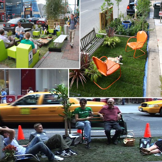Examples of parklets