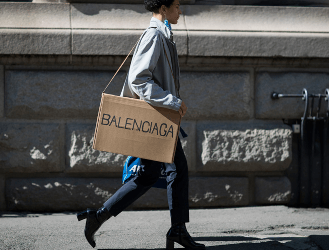 DIY fake trend Balenciaga bag