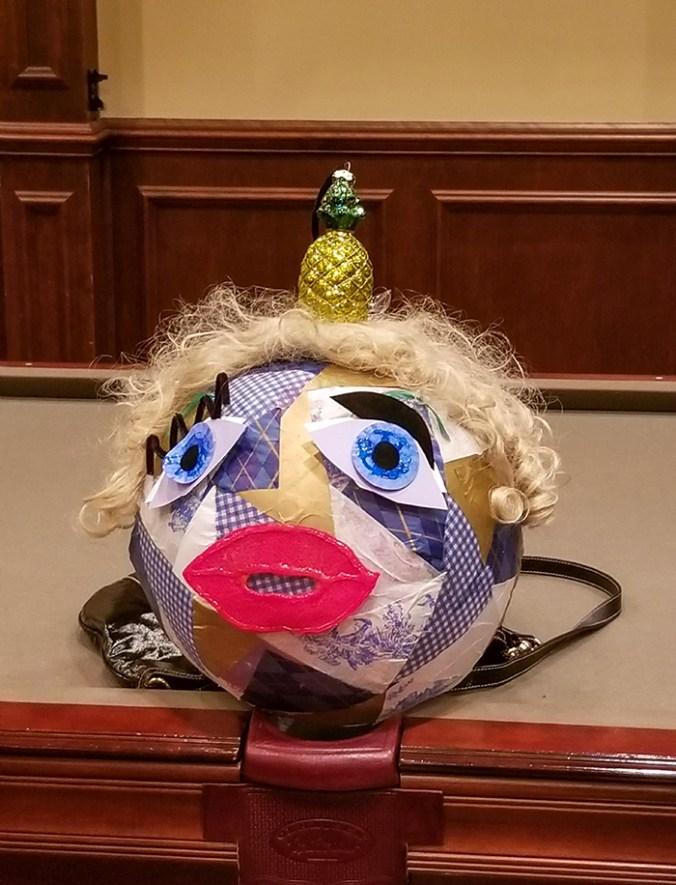 DIY patchwork custom Viktor & Rolf inspired doll head