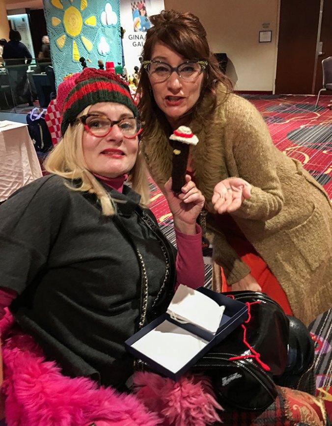 gina and magda at vogue knitting