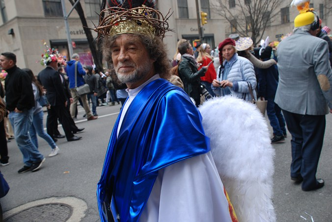 jesus at the NY easter hat parade