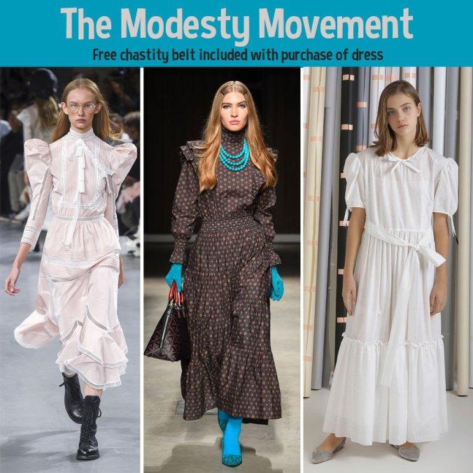 modesty dress trend spring 2019