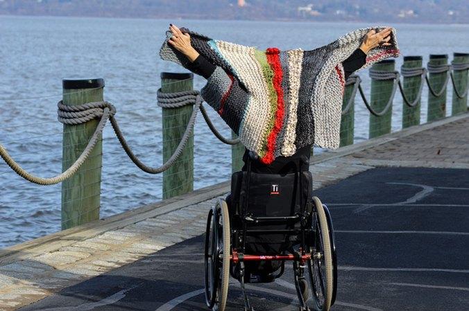 DIY designer knitted wrap