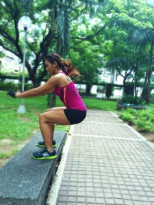 No gym membership? No problem. Use that stone bench at the park to get some plyo jumps in your workout.