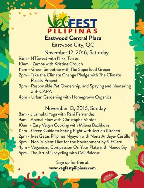VegFest Pilipinas Schedule