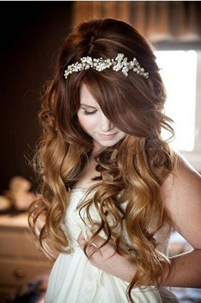 romantic wedding hairstyles with a headband for 2014 pretty designs