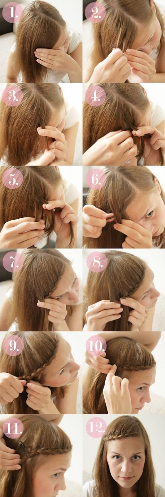 15 braided bangs tutorials: cute, easy hairstyles - pretty