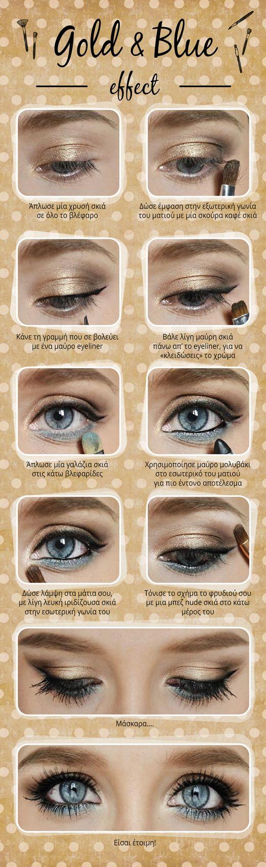 Blue Eyes Makeup Tutorial You Saubhaya