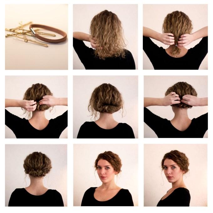how to make long hair short: faux bob hair tutorials