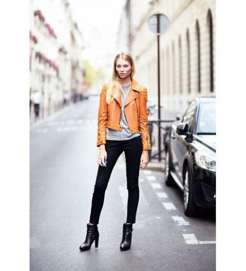 Orange Moto Jacket for Spring