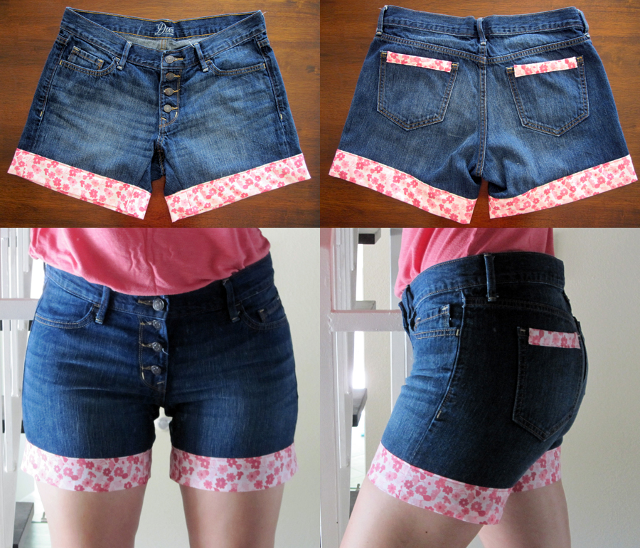 How To Upgrade Your Old Jeans DIY Jeans Cuffs Pretty