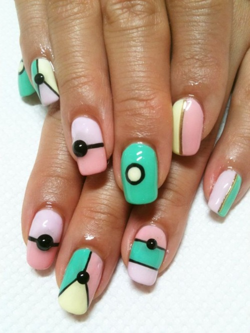 20 Color Block Nail Designs For Beginners Pretty Designs