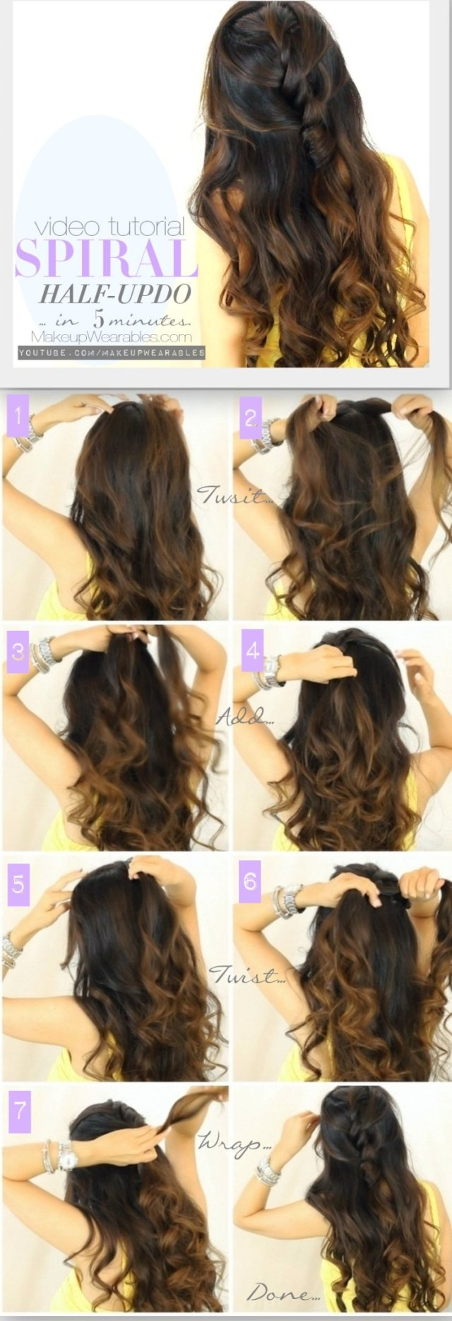 12 half up half down hair tutorials you must have - pretty