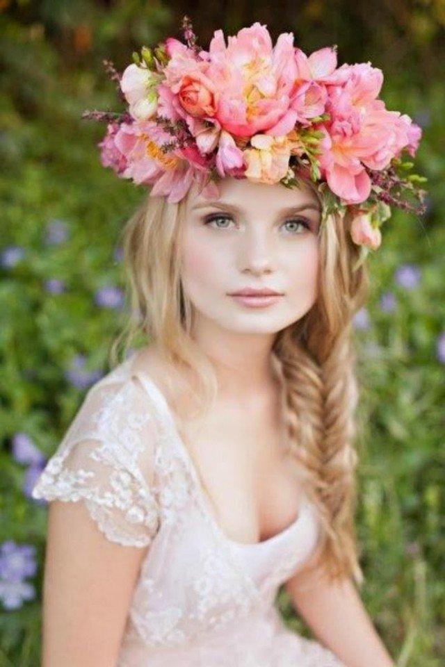 Messy Braid Flower Wedding
