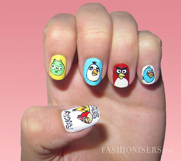 View Images Interesting Cartoon Inspired Nail Art Design Pretty Designs