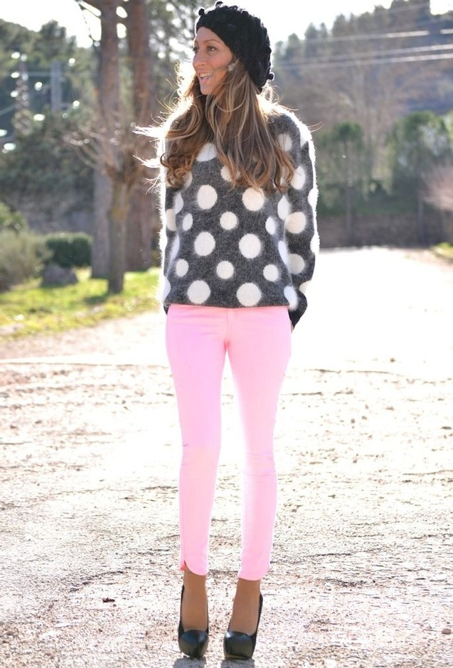 8 Stylish And Fresh Outfit Ideas With Polka Dots For 2014