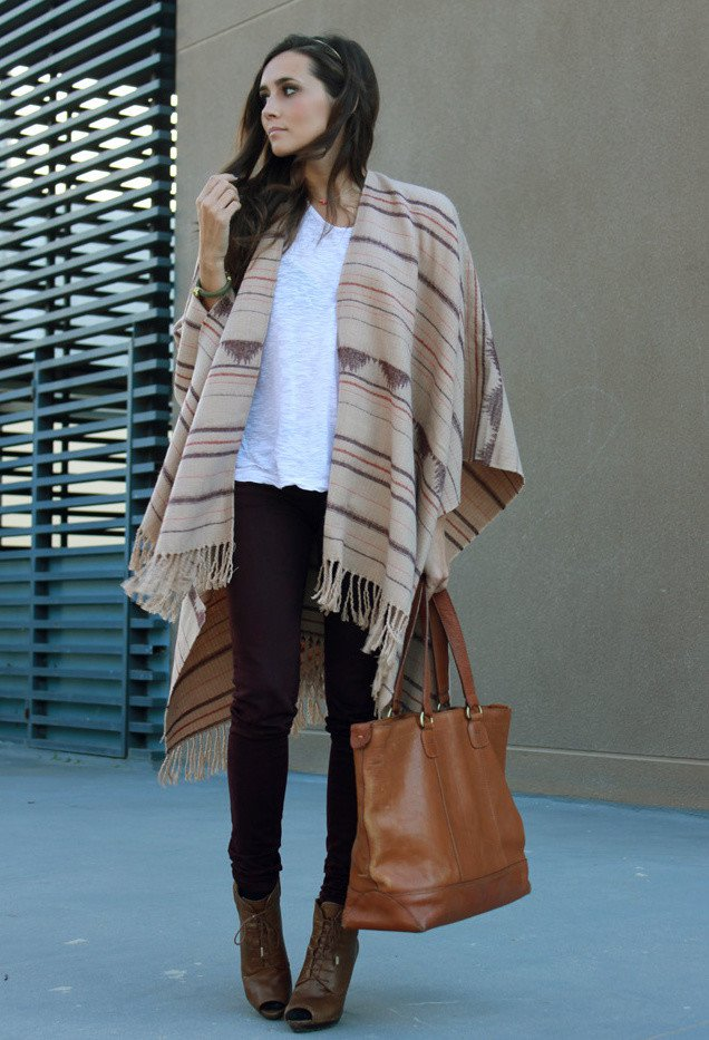 Image result for fall fashion poncho