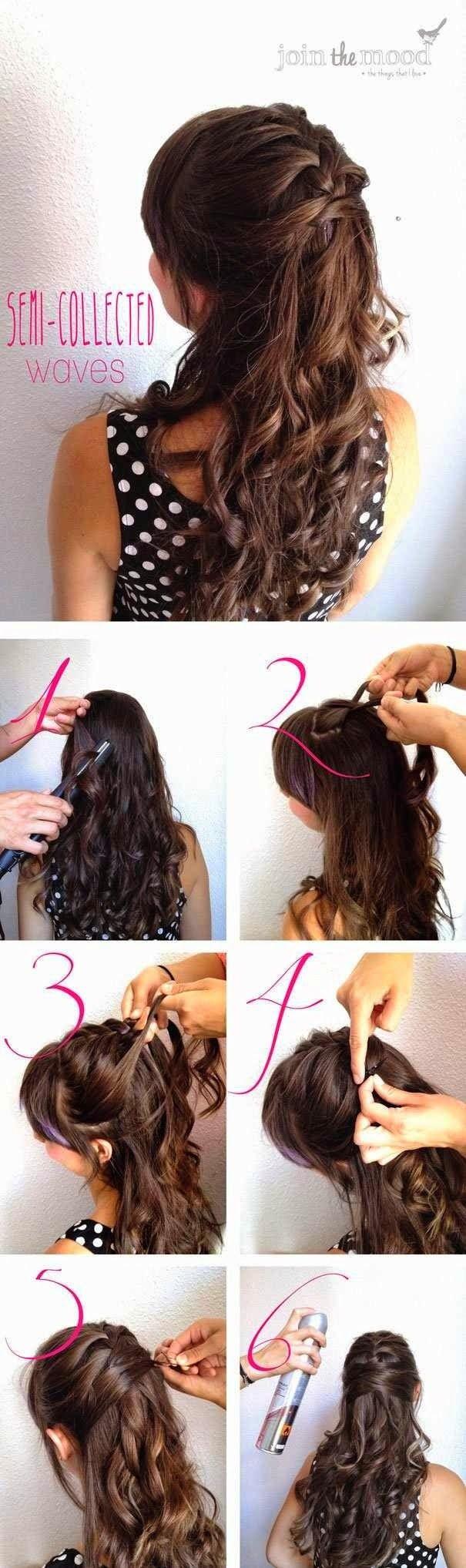 fashionable half-up half-down hairstyles & hair tutorials