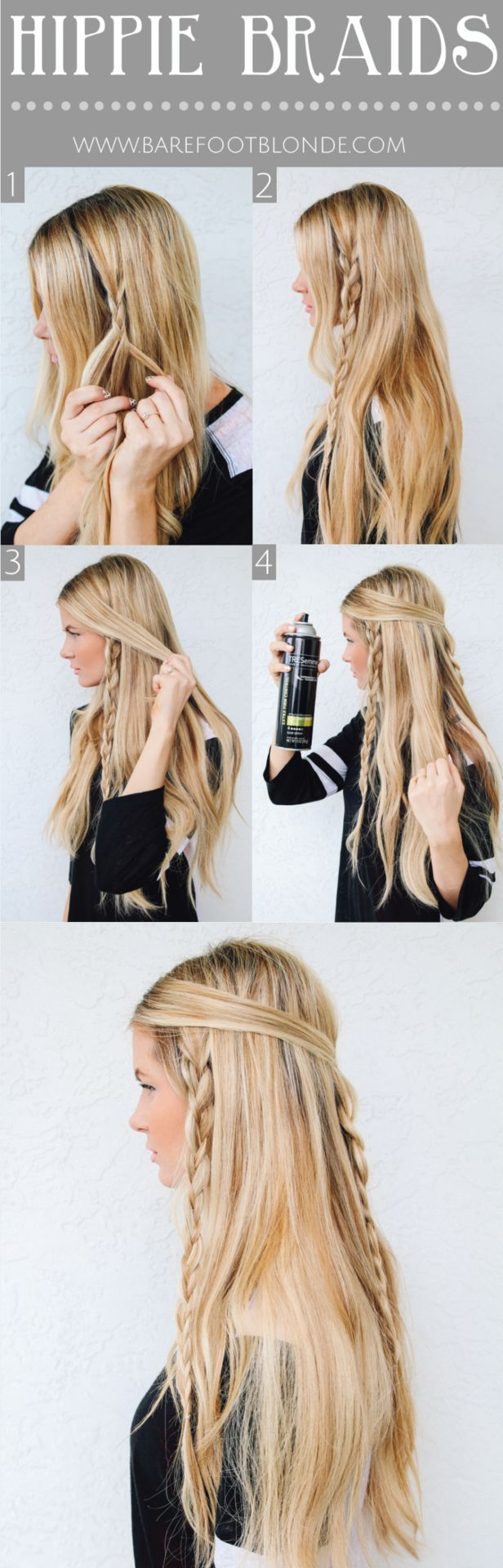 fashionable hairstyle tutorials for long thick hair - pretty